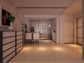 现代时尚二居室餐厅玄关装修效果图大全2012图片
