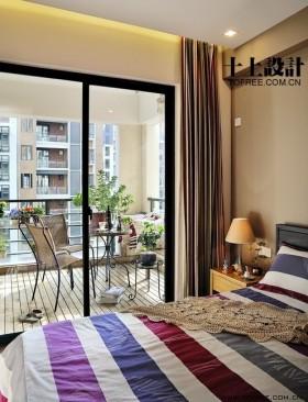 二居卧室带阳台装修效果图大全2012图片