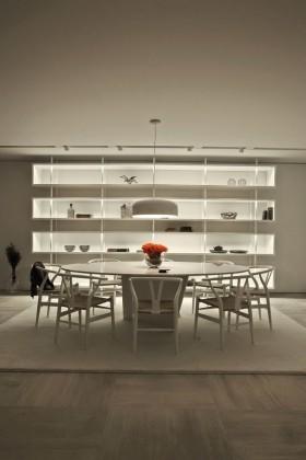15万打造浪漫简约风格复式餐厅博古架装修效果图大全