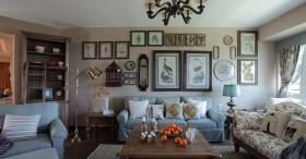 二居室家庭客厅沙发背景墙装修效果图