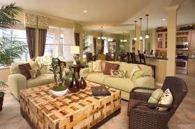 美式田园客厅沙发装修效果图欣赏