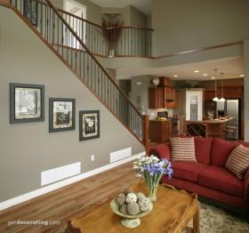 150平米复式楼客厅装修效果图大全2012图片