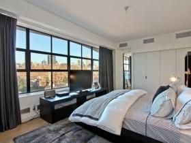 纽约现代时尚的卧室飘窗装修效果图大全2012图片