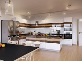 90平米小户型家庭装厨房橱柜修效果图大全