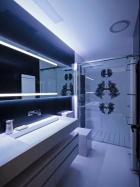 低调奢华的现代风格四居室卫生间装修效果图大全