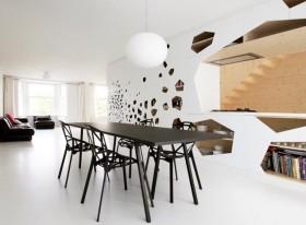 创意极简打造两室一厅餐厅装修效果图