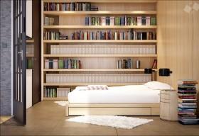 现代时尚三居室书房装修效果图大全
