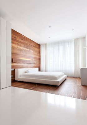 简约三室二厅卧室背景墙装修效果图大全