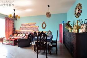 波西米亚风来袭 开放式餐厅装修效果图大全2012图片