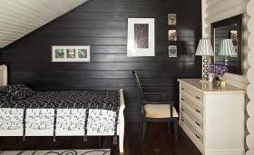 美式乡村别墅暗色调卧室装修效果图大全
