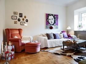 简单小清新的简约风格经济装修客厅图片