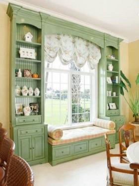 田园风格的客厅飘窗装修效果图