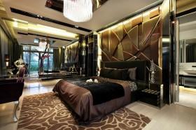 200万打造经典奢华现代风格卧室装修效果图大全