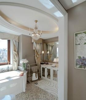 欧式奢华的别墅卫生间装修效果图大全