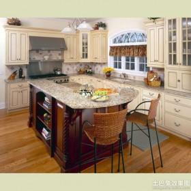 现代大理石厨房台面装修效果图