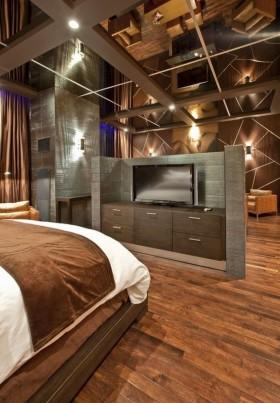 文艺青年老房改造创意小户型卧室电视背景墙装修效果图