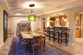 餐厅吧台装修设计效果图