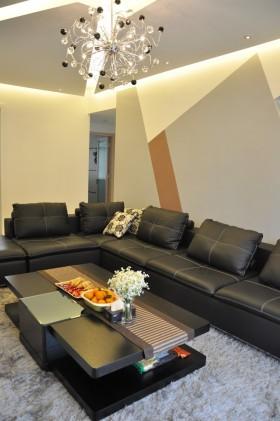 三室两厅现代风格客厅装修效果图大全