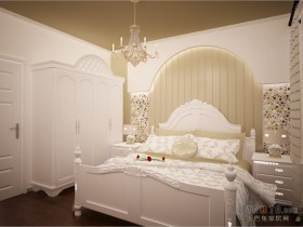 浪漫婚房地中海室内卧室背景墙装修效果图大全2012图片
