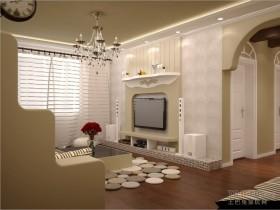 浪漫婚房地中海室内隔断装修效果图大全2012图片