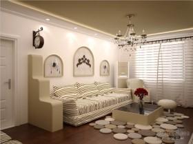 浪漫婚房地中海室内客厅窗帘装修效果图大全2012图片