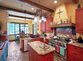 厨房橱柜室内设计地中海风格