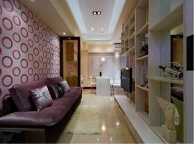 20万打造现代风格客厅博古架装修效果图大全
