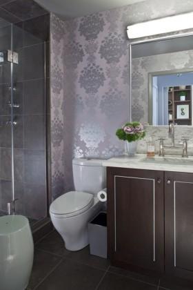 70平小户型美式现代厕所装修效果图
