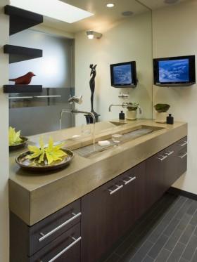 17万打造华美中式风格二居卫生间装修效果图大全
