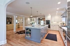 御峰园地中海风格室内设计厨房橱柜效果图