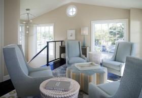 御峰园地中海风格室内设计客厅