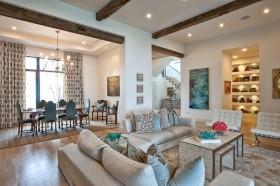 御峰園地中海風格客廳室內設計