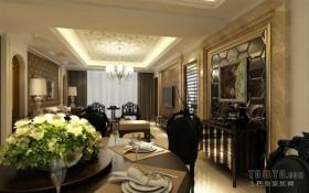 70万打造现代欧式风格三居餐厅装修效果图大全2012图片