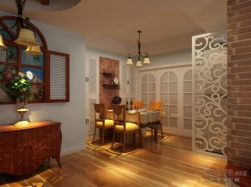 地中海风格室内餐厅隔断装修效果图大全