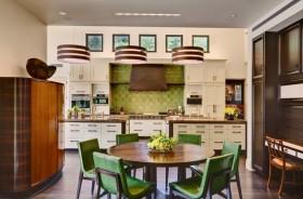 别墅图片大全 绿色清新的餐厅
