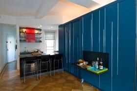 50平米小户型蓝色餐厅装修效果图