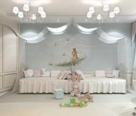 小户型双胞胎儿童房吊顶装修效果图