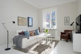 50平方米北欧风格小户型客厅装修效果图大全