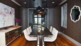 两室一厅冷色调餐厅装修效果图大全