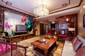 中式客厅电视背景墙装修效果图大全