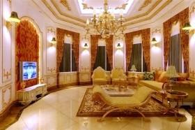 欧式奢华别墅卧室吊顶装修效果图大全