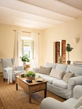 温馨浪漫的田园风格装修客厅图片