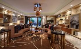 四居室现代客厅室内装修效果图大全