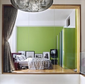 绿色宁谧的两室一厅清新卧室装修效果