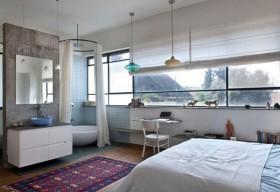 北欧清新的别墅主卧室装修效果图大全