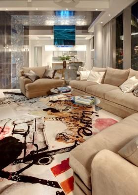 现代简约客厅沙发装饰效果图