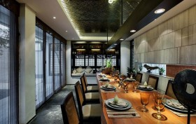 奢华中式餐厅吊顶装修效果图