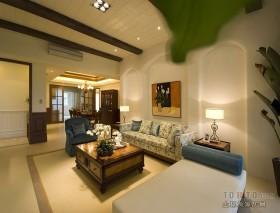 17万打造浪漫地中海客厅装修效果图大全2012图片
