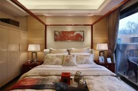 90㎡小户型中式现代婚房装修 领略古典美的卧室