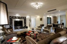 三居室简约舒适的客厅装修效果图